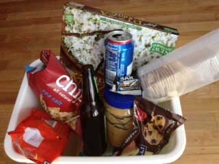 examples of junk food refuse from the trash